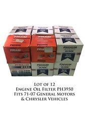 12 Pack Engine Oil Filter PH3950 Fits 71-07 General Motors & Chrysler Vehicles
