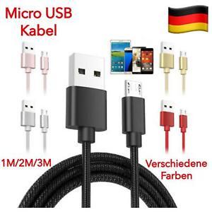 Micro USB Ladekabel Datenkabel 1m 2m 3m für Samsung Galaxy S3 S4 S5 S6 S7 Edge