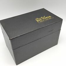 Pocket Day Timer Box File Senior Coat Size Black Organizer Daytimer 1970s