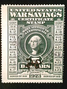 U S stamps Scott WS2 five dollar war savings issue used cv 35.00