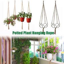 Garden Plant Hanger Hanging Planter Basket Rope Flower Pot Holder Decor Useful