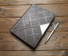 Genuine Leather Blank Notebook Top-Grain Travel Notebook Personal Diary Teachers