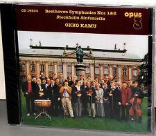 OPUS 3 CD 19504: Stockholm Sinfonietta - Beethoven Sym Nos. 1 & 2 - OOP 1996 SS