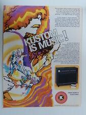 retro magazine advert 1980 KUSTOM III LEAD SC amplifiers