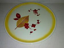 Art Deco SPRITZDEKOR GRÜNSTADT Kuchenplatte / Flacher Teller Floral Dia: 30,5 cm