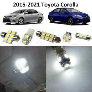 10 White LED lights interior package kit for 2015-2020 2021 Toyota Corolla +Tool