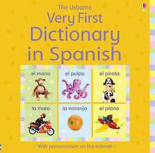 Primer diccionario en español Childrens USBORNE Nuevo Libro Regalo Vacaciones hardbac