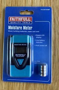Faithfull EM4806 Damp & Moisture Meter LCD Display