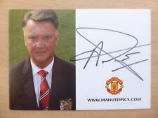 2015-16 Louis Van Gaal Signed Man Utd Club Card B (13015)