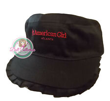 American Girl CL MY AG ATLANTA RUFFLE CAP for Girl One Size Black Hat City NEW