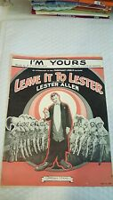 I'm Yours - Sheet Music for Piano and Voice with Ukulele Chords1930 by Green, Jo