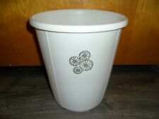 Vtg Rubbermaid ROUND Waste Paper Garbage Trash Can White Daisies Flower 2940 5