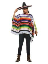 MEXICAN WILD WEST BANDIT PONCHO FANCY DRESS COSTUME COWBOYS AND INDIANS