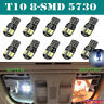 10 x Canbus T10 194 168 W5W 5730 8 LED SMD White Car Side Wedge Light Lamp Bulbs