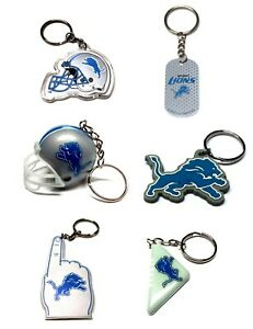 DETROIT LIONS NFL FOOTBALL KEYCHAIN BACKPACK PULL  LICENSED - YOU PICK ITEM