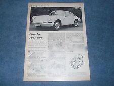 """1963 Porsche 901 Vintage Info Article """"Look Familiar?"""""""