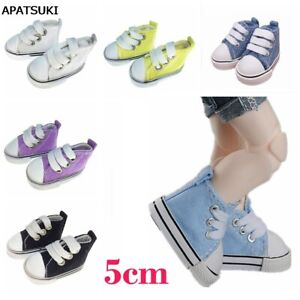 5cm Fashion Doll Shoes For Russian Doll Canvas Shoes For 1/4 Doll Accessories