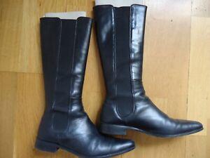 PONS QUINTANA Bottes cuir noir P37