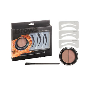 Royal Cosmetic Connections Brow  Eyebrow Powder Angled Brush & Stencils - New