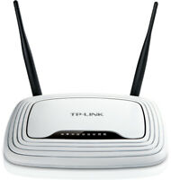 TP Link WR841N WLAN Router 300Mbit 300 Mbps Wireless 4 Rj45 Ports 2 Antennen