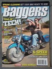 2008 APRIL BAGGERS MAGAZINE  HARLEY CHOPPER V-TWIN MOTORCYCLE