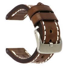 22mm NEW COW Leather Strap Brown Watch Band for fits PANERAI White Tang x1
