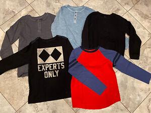 EUC Lot of 5 Boys GYMBOREE Long Sleeve T-Shirts size 10-12