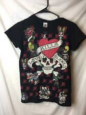 Don Ed Hardy Women's T-shirt Size Small vintage black Fitted love Kills Slowly