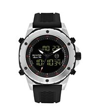 Bulova Marine Star Men's 98C119 Quartz Ana-Digi Chronograph Black 45mm Watch