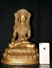 "18"" Old Tibet Buddhism Copper Gilt Shakyamuni Sakyamuni Amitabha Buddha Statue"