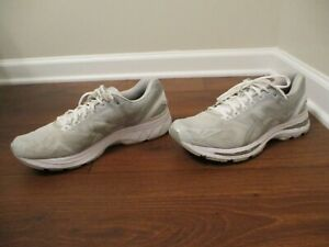 Used Worn Size 12 Asics Gel Nimbus 19 Shoes White Gray Silver