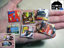 Set 6 Vinile Record miniature. Vasco Rossi. MAE Mini World 1:12 Scala