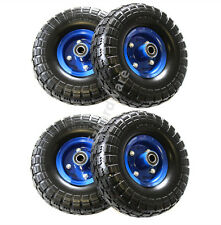 "4x 10""Puncher Proof Solid Rubber Wheels Tyre Tire Flat Free 16mm Hand Trolley"
