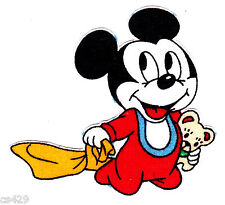 """3.5"""" Disney babies baby mickey mouse vintage fabric applique iron on character"""