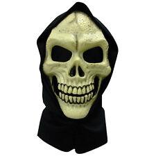 Cráneo máscara facial Pvc Con Capucha ESQUELETO SKELETOR Halloween Disfraz GRIM REAPER