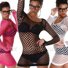 Mesh Clubwear Long Sleeve Short/Mini Dresses