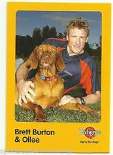 2005 AFL ADELAIDE CROWS BRETT BURTON AND OLLEE AUSKICK PEDIGREE CARD