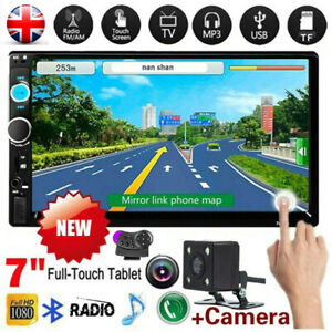 "Double 2 Din Car Stereo Radio 7"" Bluetooth USB AUX TF IOS/Android MP5 Player"