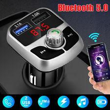 Bluetooth 5.0 Wireless Adapter FM Transmitter MP3 Radio Car Kit 3.1A USB Charger