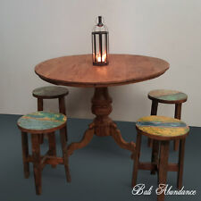 Balinese Original Vintage Round Timber Dining Table 160C