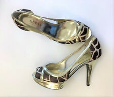 Guess by Marciano Gwilonna Giraffe Open Toe Pumps Size 10 M NEW