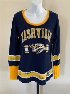 New Nashville Predators Womens Sizes XS-L Blue G-III Shirt