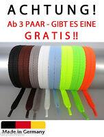 Schnürsenkel Flachsenkel  Senkel Senker 75cm-200cm 8mm, breit Neon NEU