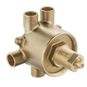 Brass Commercial 3-Function Transfer Shower Valve - 1/2 in. CC Connection by MOE