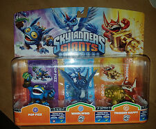 Skylanders Giants Figure Triple Pack Pop Fizz Whirlwind Trigger Happy New