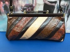Vintage Jane Shilton Genuine Snake Skin Purse Handbag