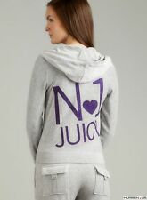 NWT Juicy Couture Silver Lining Gray Velour Hoodie M Pant S Tracksuit Set $256