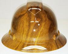 Hydro dip Hard Hat Yellow Oak Wood Grain Pyramex Ridgeline Protective