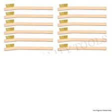 12 Pack Brass Wire Brush Tooth Brush Wood Handle Cleaning Polishing FREE SHIP!