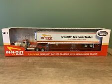1/64 Dcp In-N-Out Peterbilt 389 With Reefer Trailer 32752